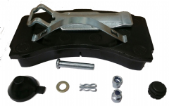 Brake Pads DAF, Iveco, Mercedes, Scania, front, rear, with Kit MAN DT brand WEB104